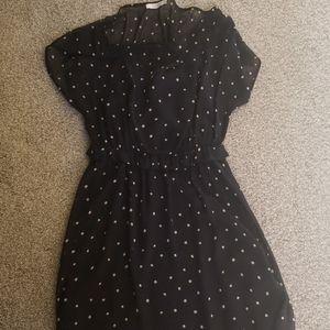 Sheer Lush navy dot dress